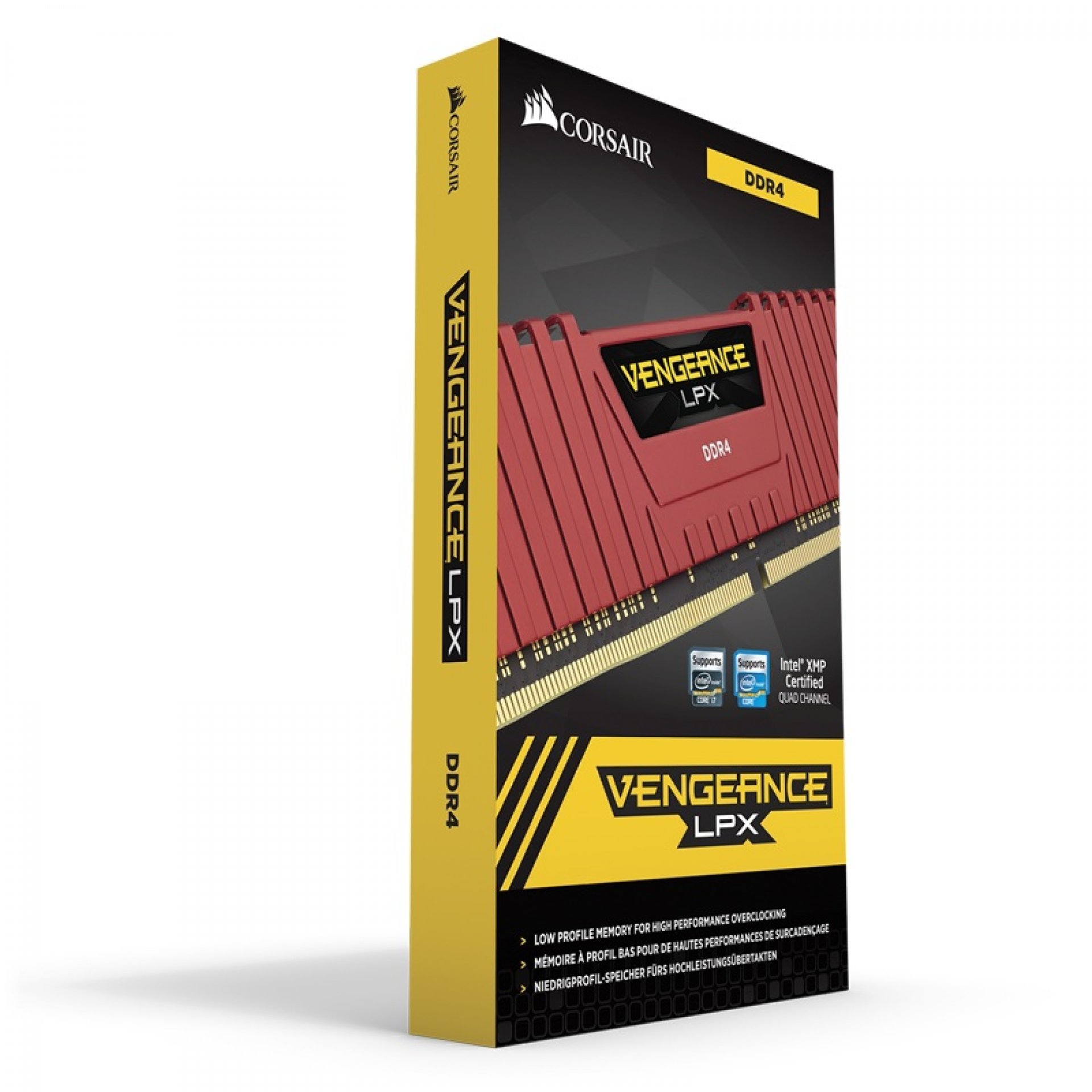CORSAIR CMK8GX4M1A2400C16R Desktop Ram Vengeance Lpx Series - 8GB (8GBx1) DDR4 2400MHz Red