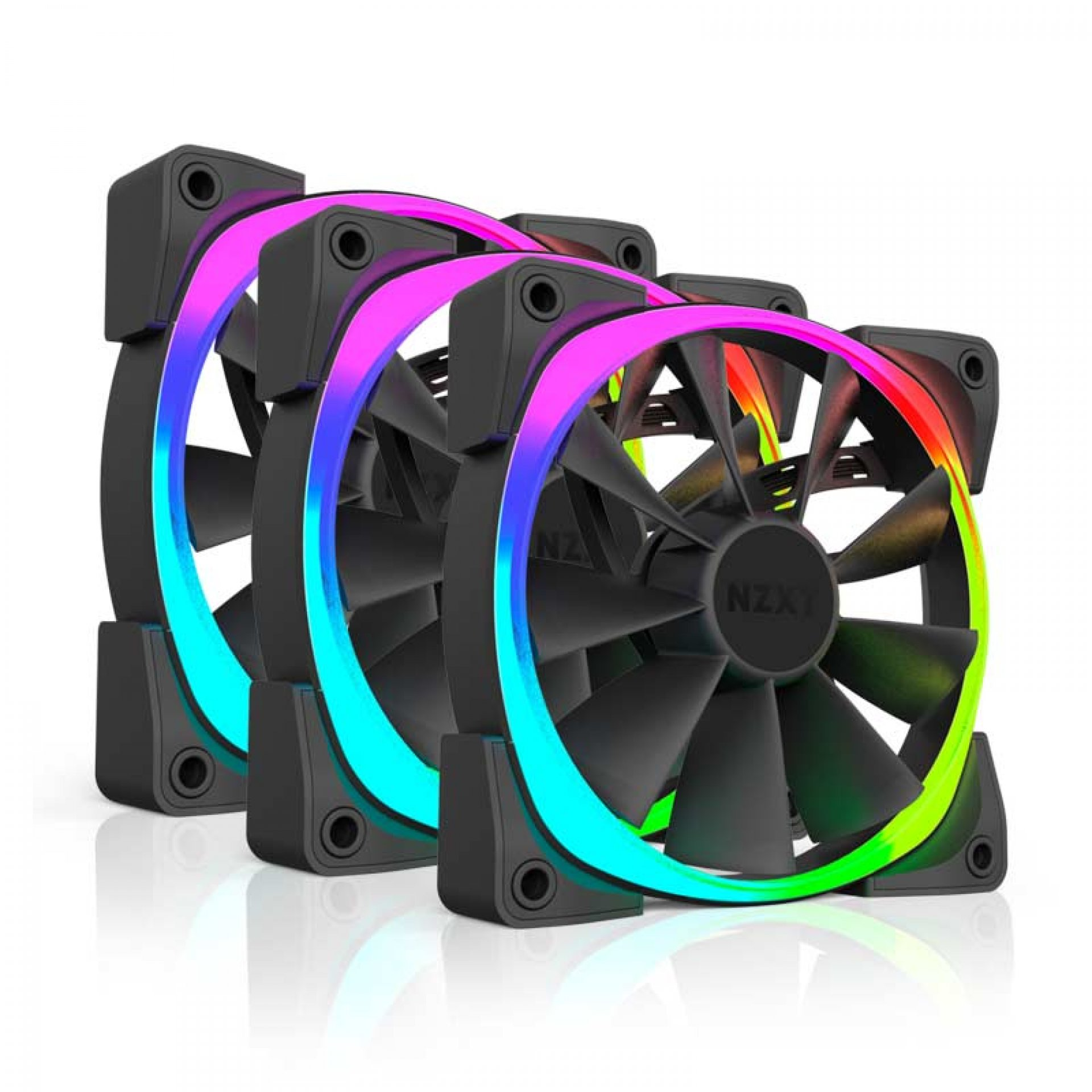 Nzxt AER RGB 120 Three Pack